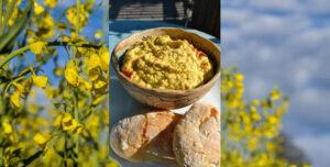 Hummus, verfeinert mit Sojaöl